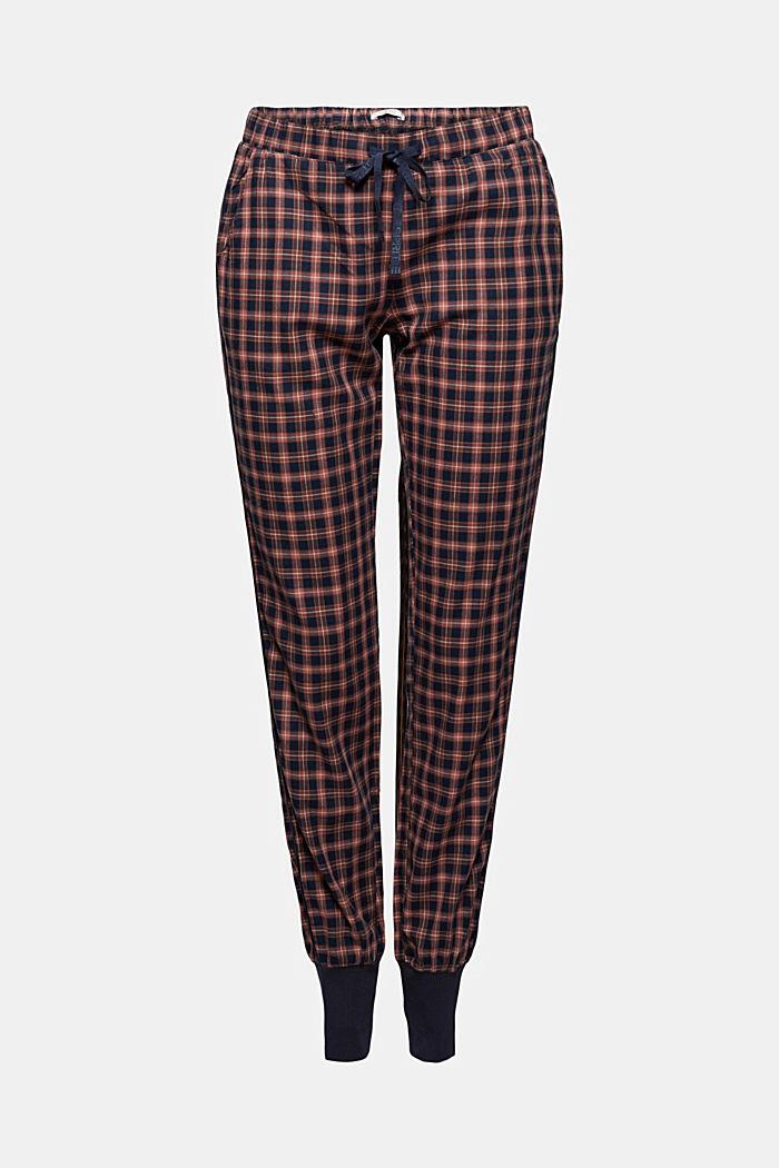 Pantaloni da pigiama con motivo a quadri, cotone biologico