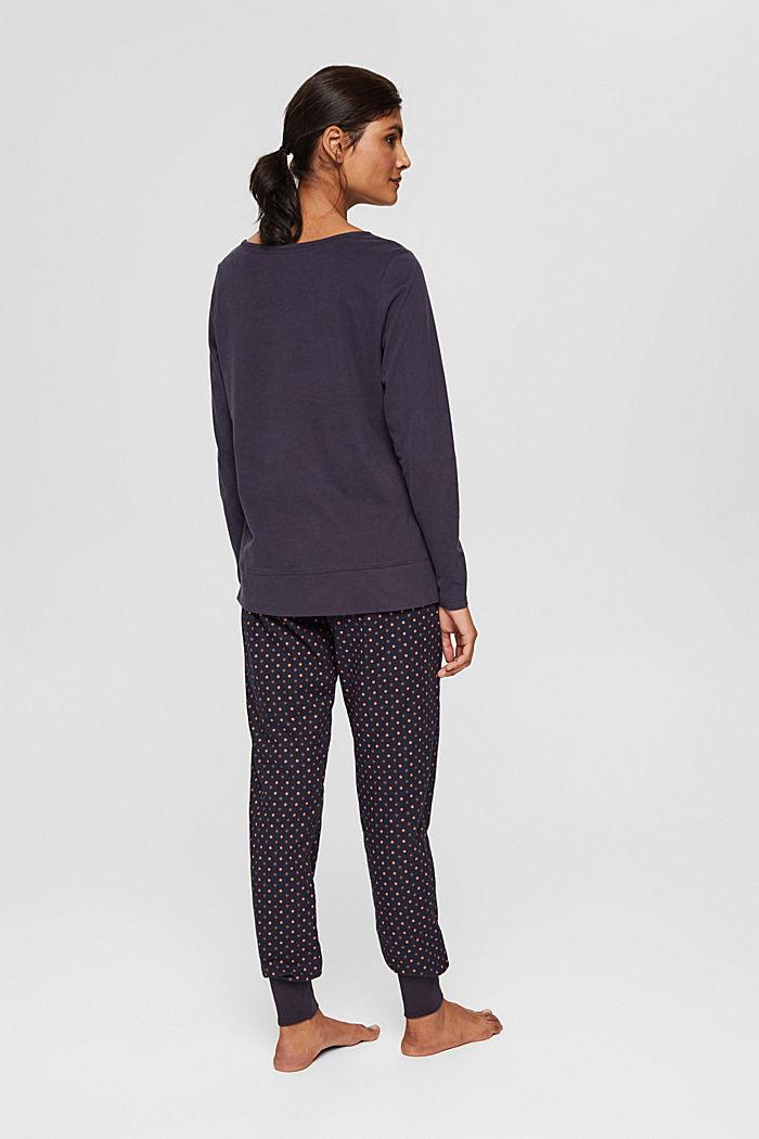 Jersey pyjama van 100% biologisch katoen, NAVY, detail image number 1