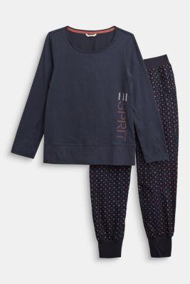 Pyjamas made of 100% organic cotton, NAVY 2, detail
