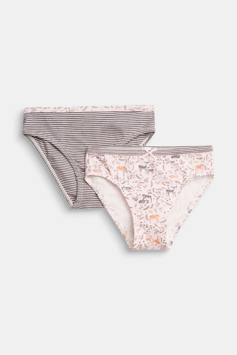Esprit - Double pack of briefs with a print