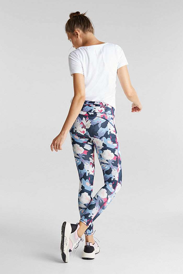 Active leggings with a print, E-DRY, NAVY, detail image number 3