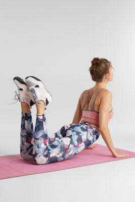 Active leggings with a print, E-DRY, NAVY 4, detail