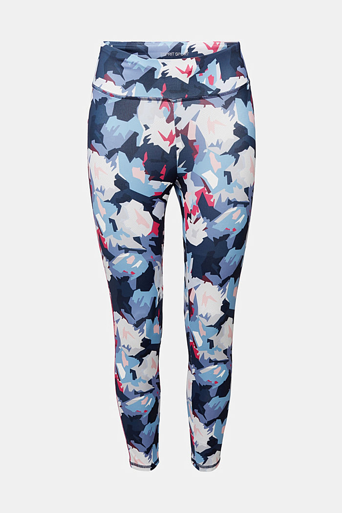 Active leggings with a print, E-DRY, NAVY, detail image number 5