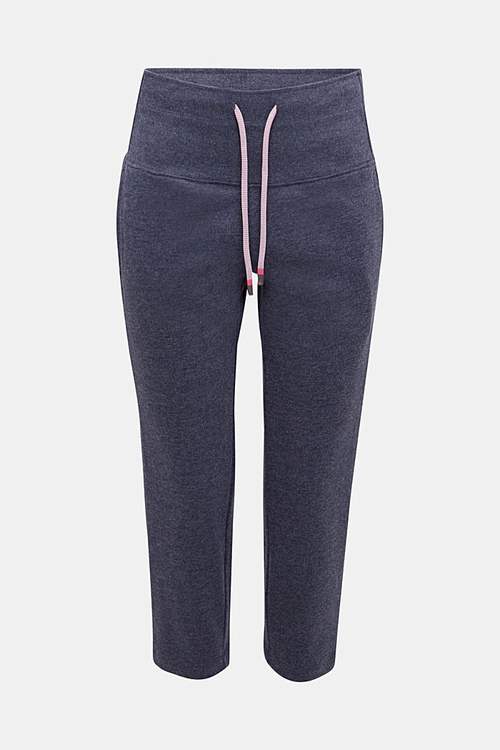 Cropped tracksuit bottoms with a wide waistband, NAVY, detail image number 5