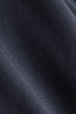 Cropped tracksuit bottoms, organic cotton, NAVY 2, detail