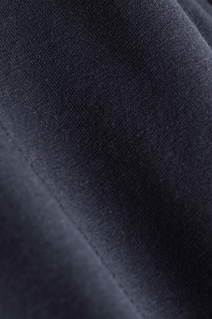 Cropped tracksuit bottoms, organic cotton, NAVY, detail image number 4