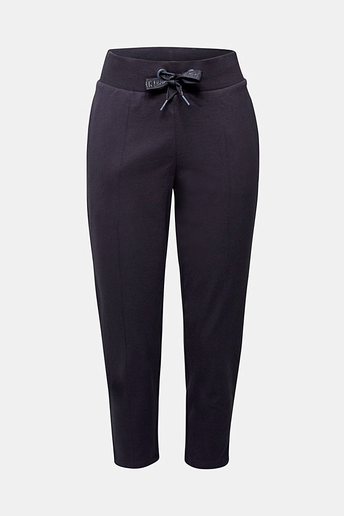 Cropped tracksuit bottoms, organic cotton, NAVY, detail image number 6