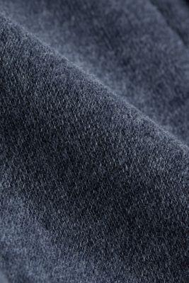 Melange sweatshirt cardigan, NAVY, detail