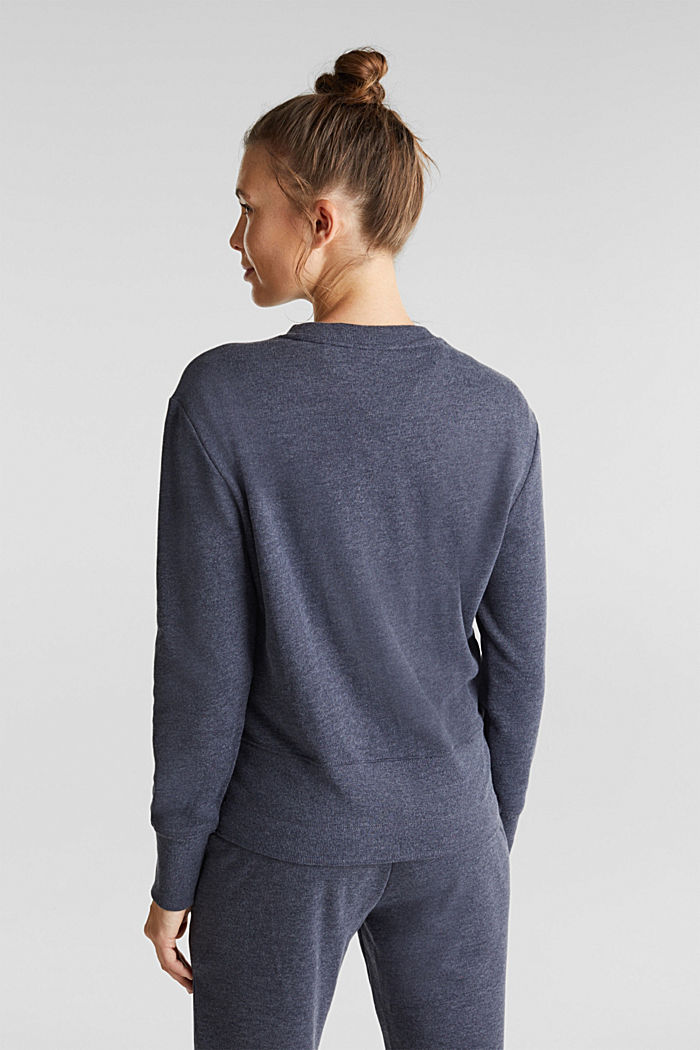 Sweatshirt with a wide ribbed trim, NAVY, detail image number 3