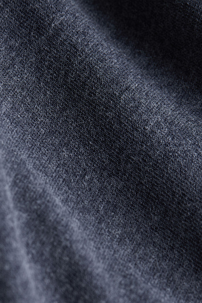 Sweatshirt with a wide ribbed trim, NAVY, detail image number 4