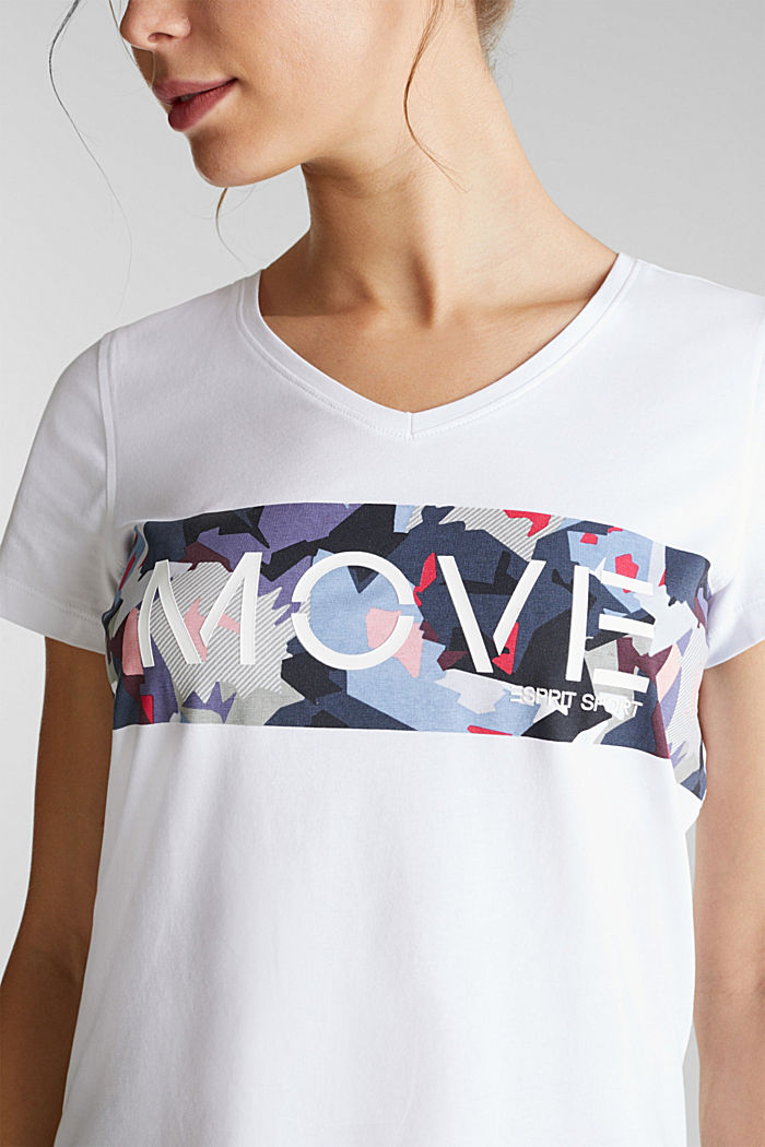 Printed T-shirt with organic cotton, WHITE, detail image number 2