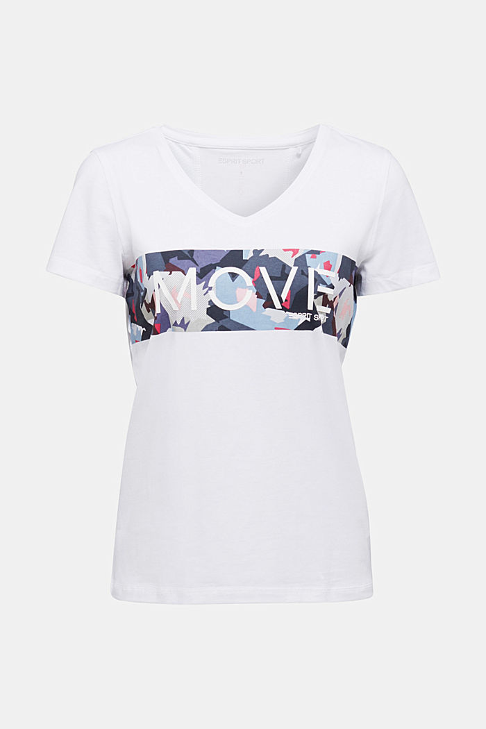 Printed T-shirt with organic cotton, WHITE, detail image number 5