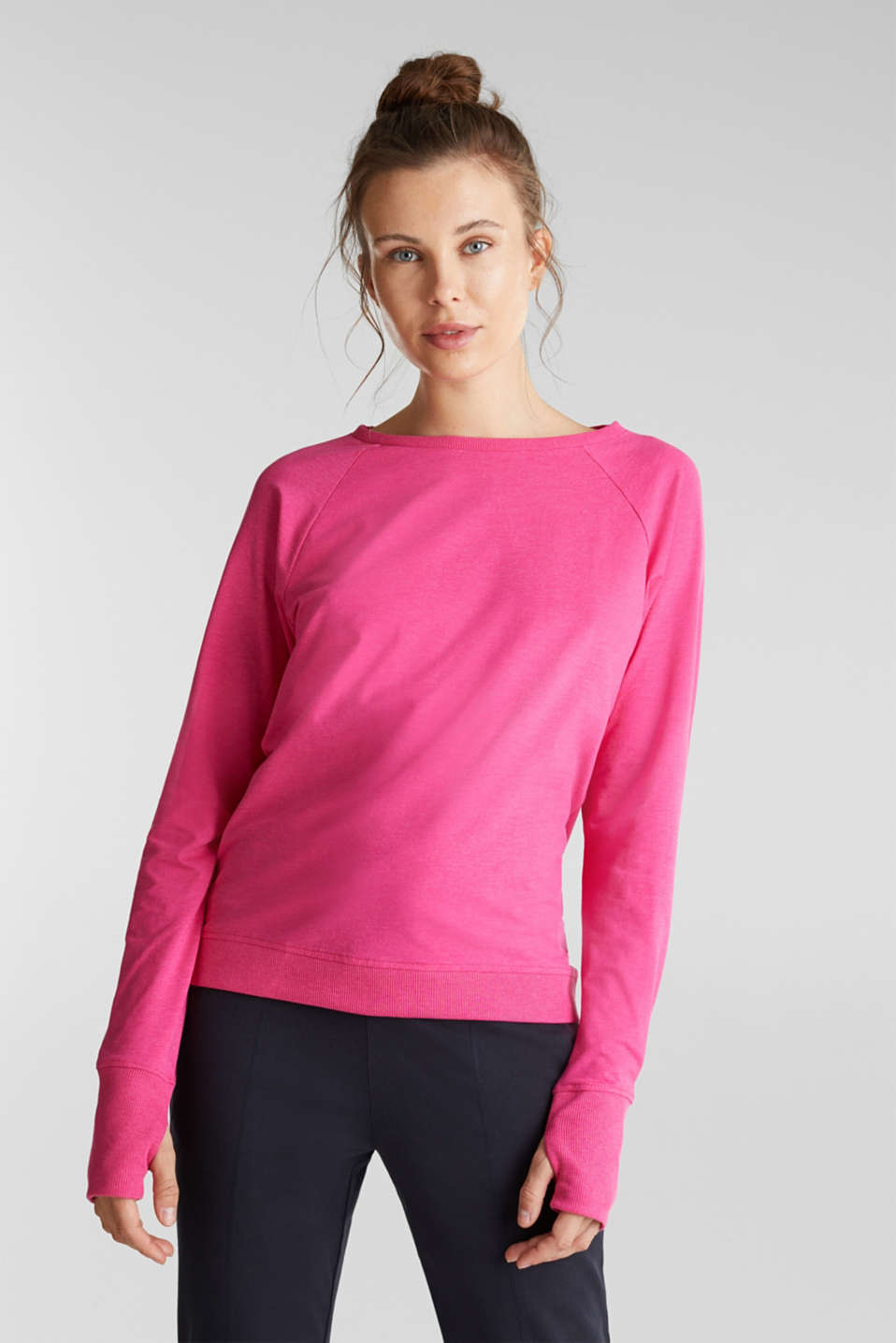 Esprit - Active long sleeve top with organic cotton