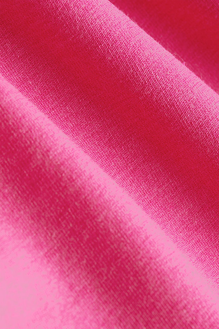 Active long sleeve top with organic cotton, PINK FUCHSIA, detail image number 4