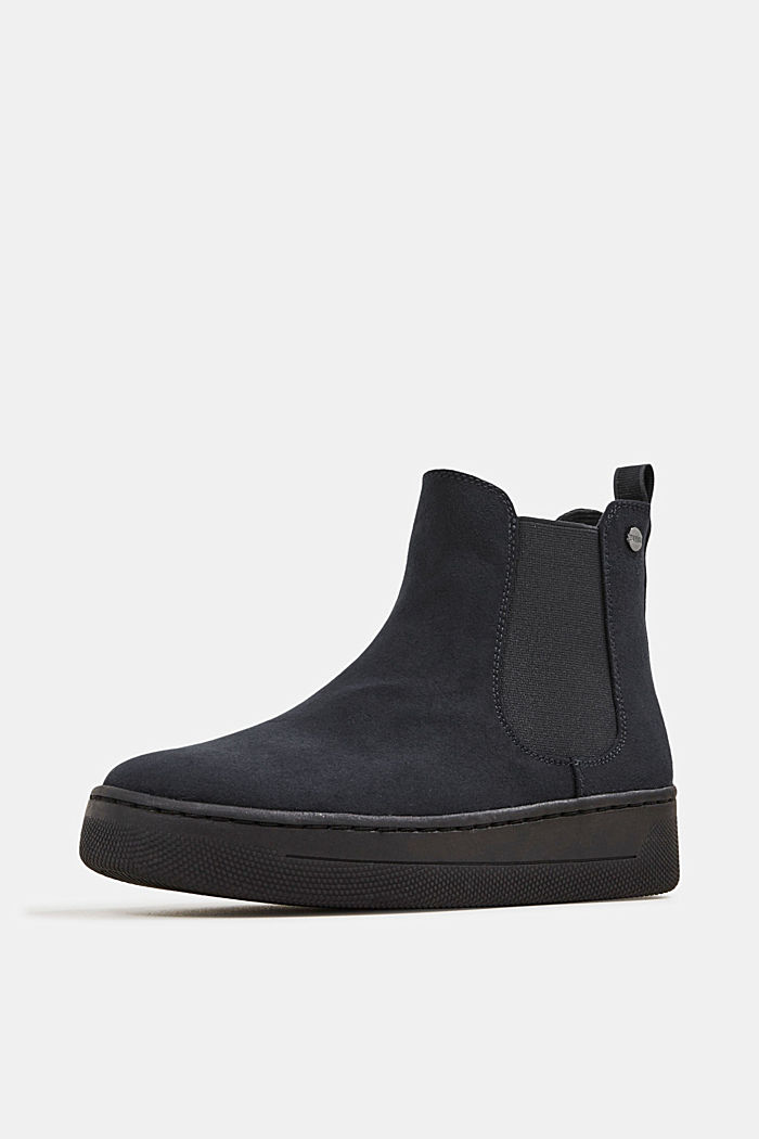 Chelsea boots in faux suede, BLACK, detail image number 2
