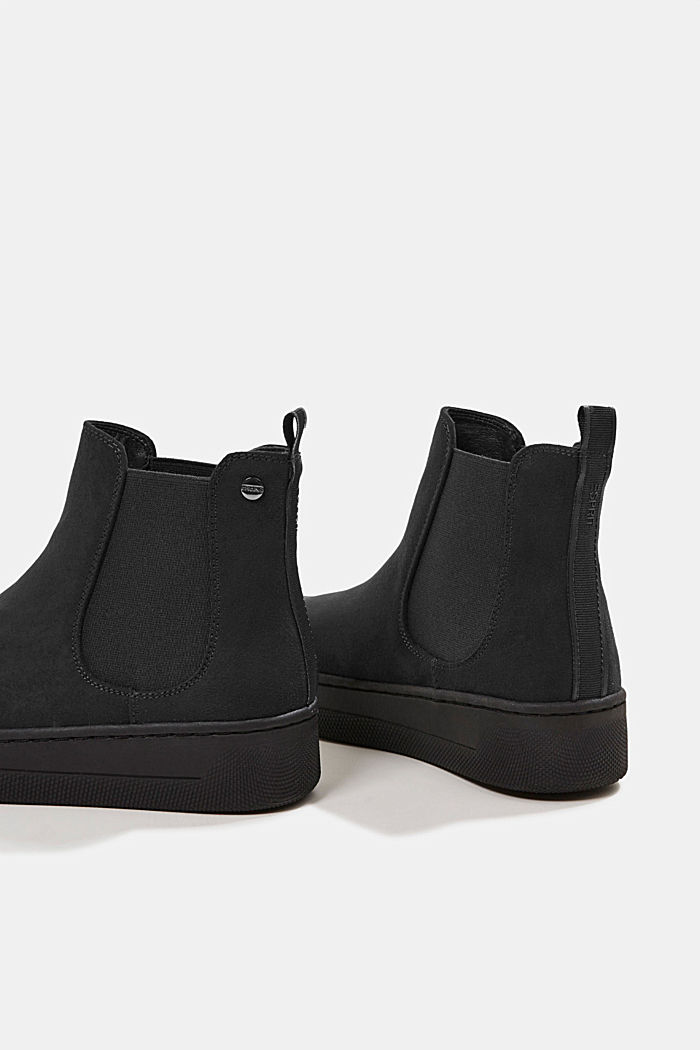 Chelsea boots in faux suede, BLACK, detail image number 5