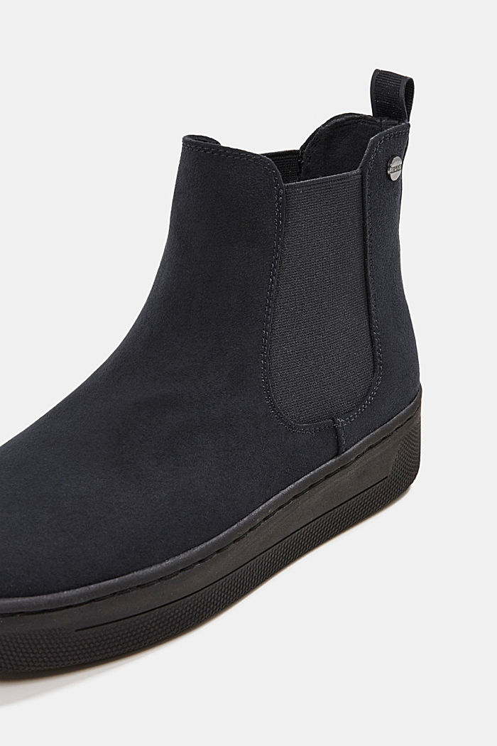 Chelsea boots in faux suede, BLACK, detail image number 4