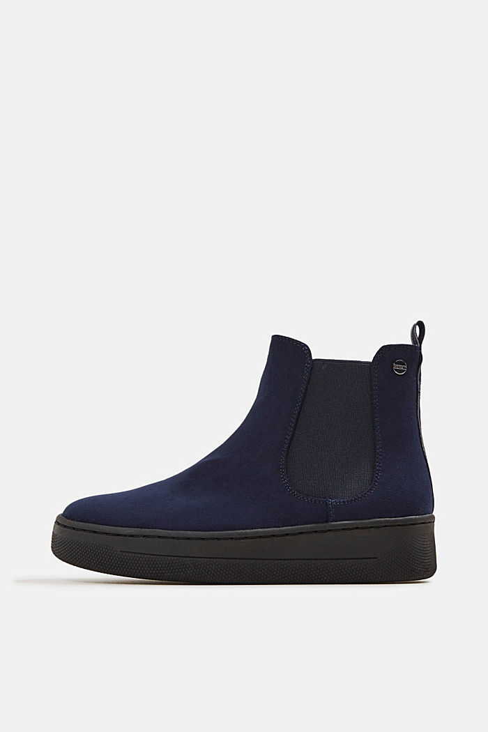 Chelsea boots in faux suede, NAVY, detail image number 0