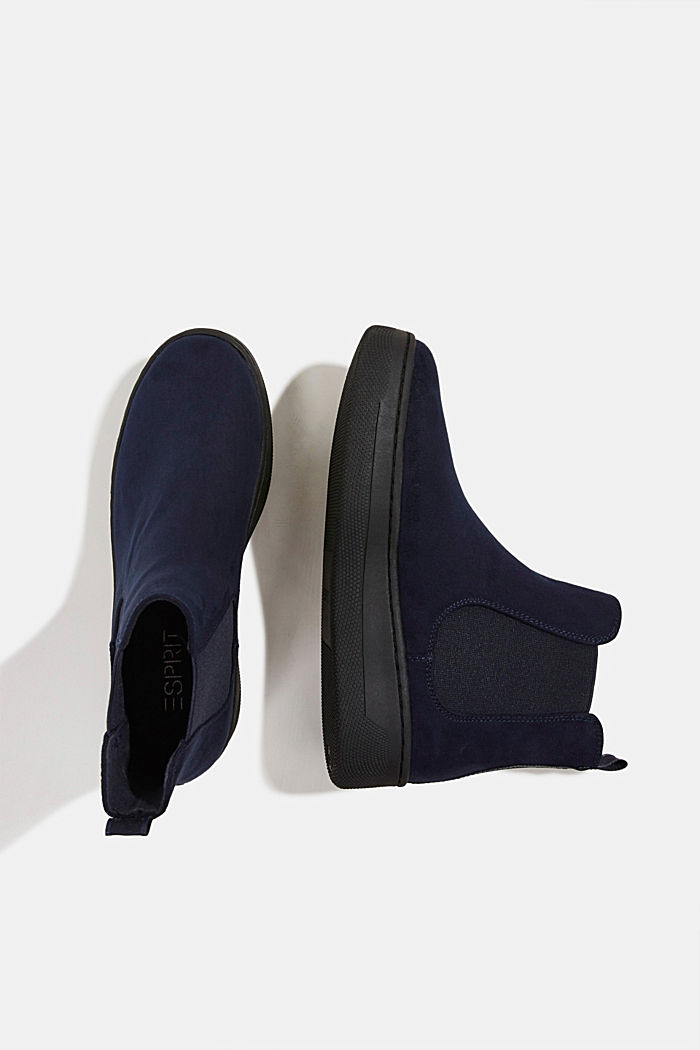 Chelsea boots in faux suede, NAVY, detail image number 1