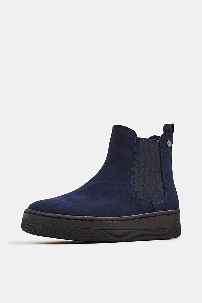Chelsea boots in faux suede, NAVY, detail image number 2