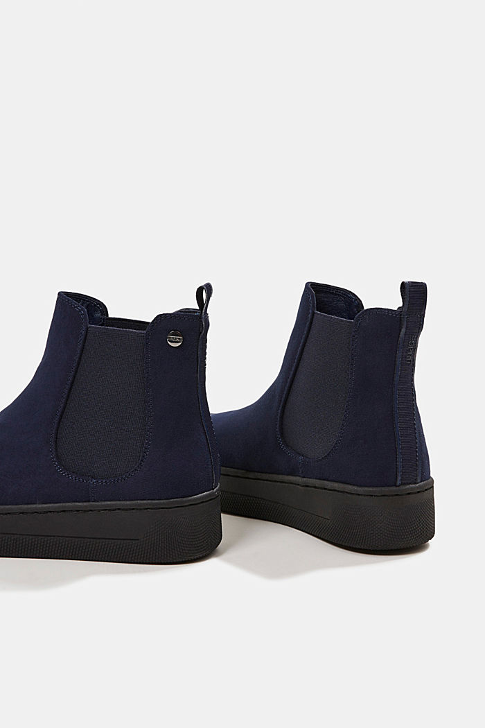Chelsea boots in faux suede, NAVY, detail image number 5