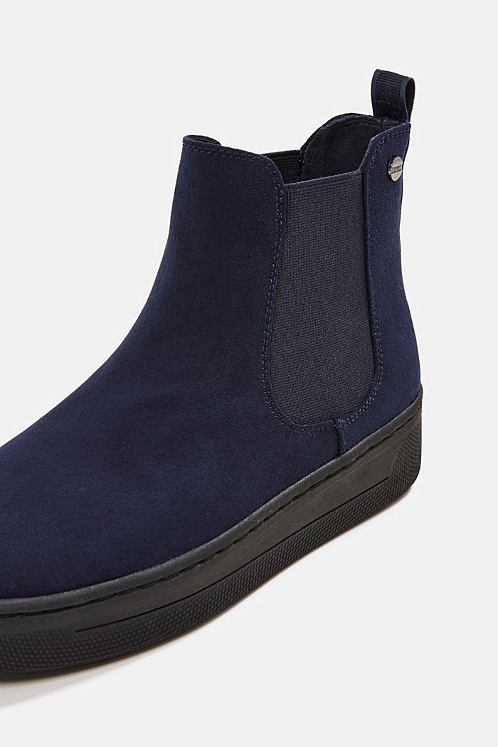 Chelsea boots in faux suede, NAVY, detail image number 4
