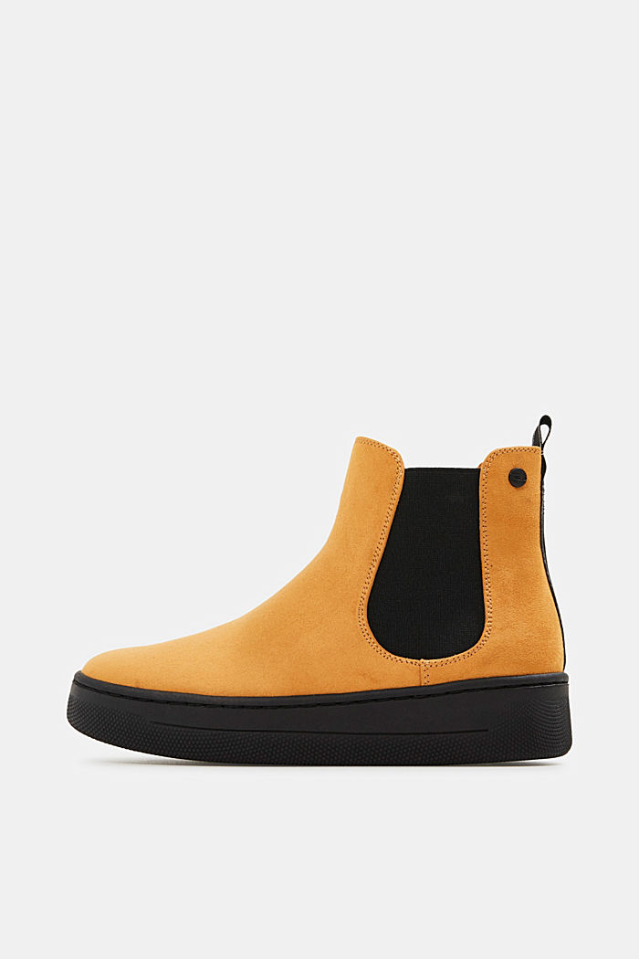 Chelsea boots in faux suede, AMBER YELLOW, detail image number 0