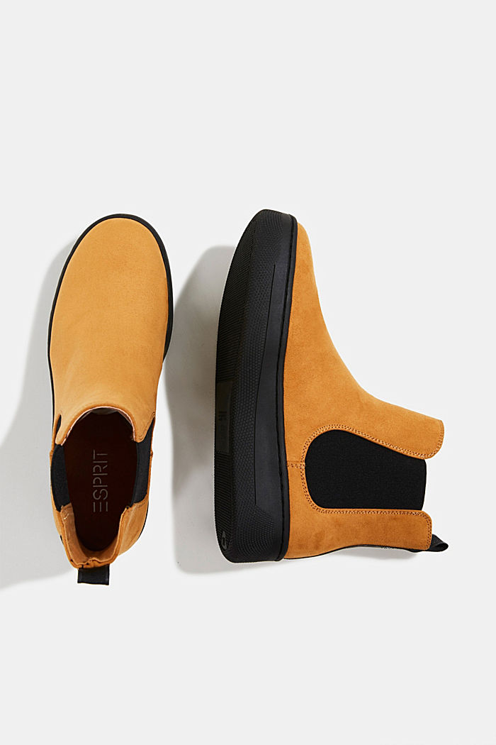 Chelsea boots in faux suede, AMBER YELLOW, detail image number 1