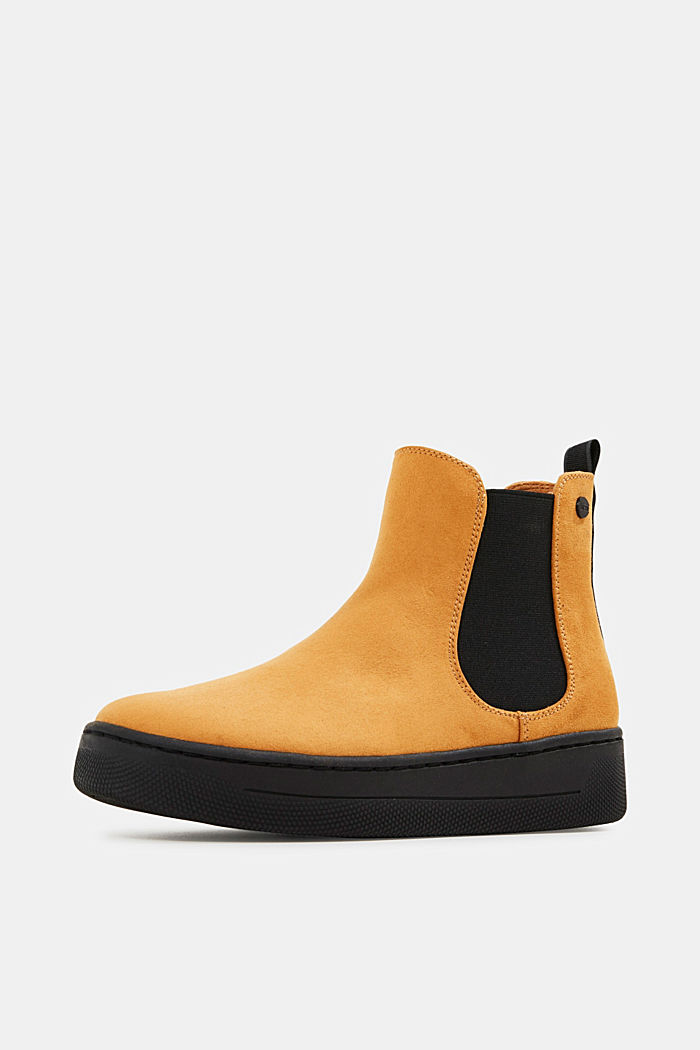 Chelsea boots in faux suede, AMBER YELLOW, detail image number 2