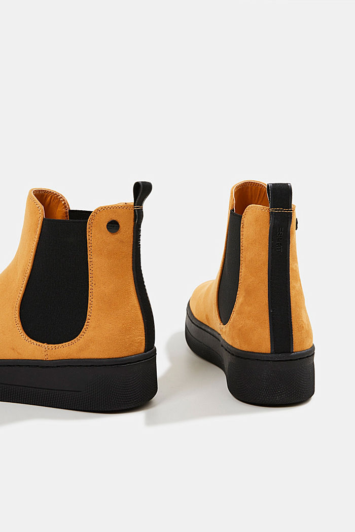 Chelsea boots in faux suede, AMBER YELLOW, detail image number 5
