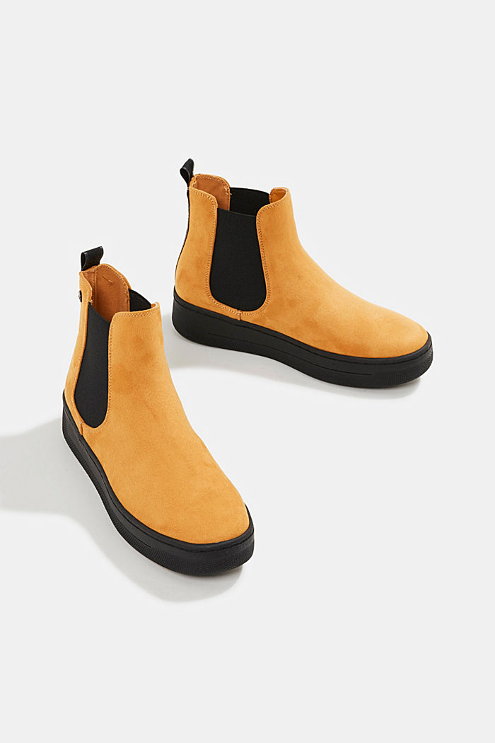 Chelsea boots in faux suede, AMBER YELLOW, detail image number 6