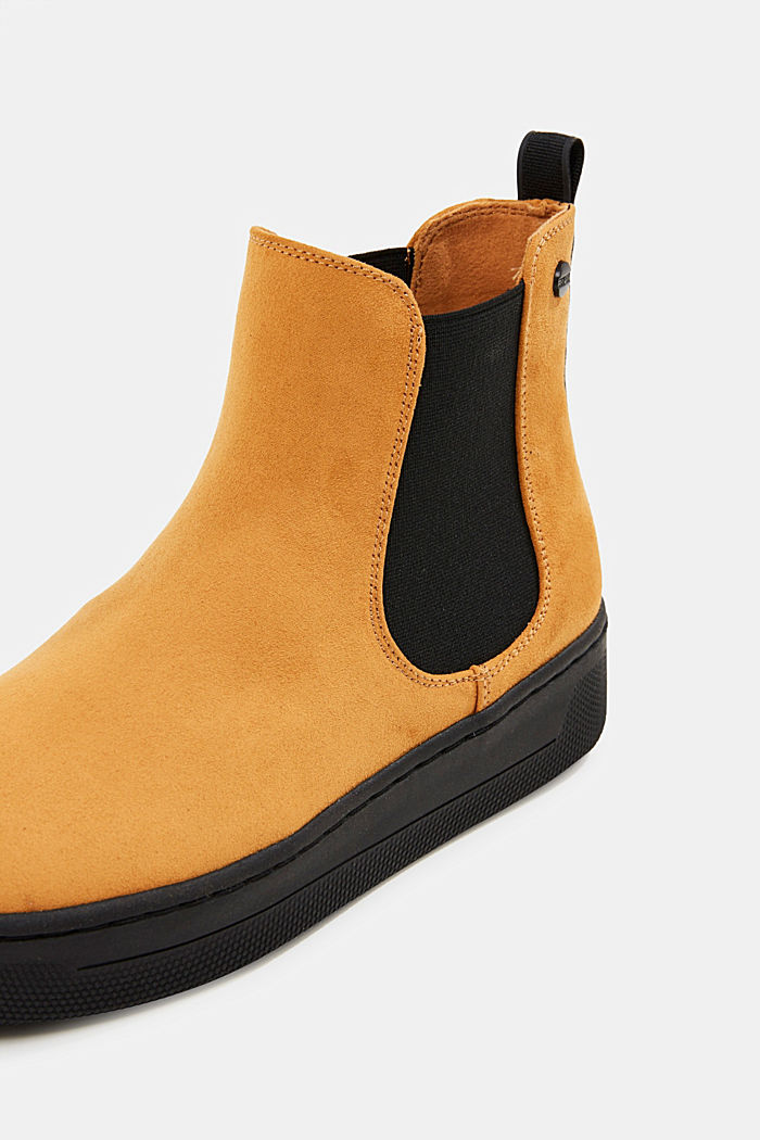 Chelsea boots in faux suede, AMBER YELLOW, detail image number 4