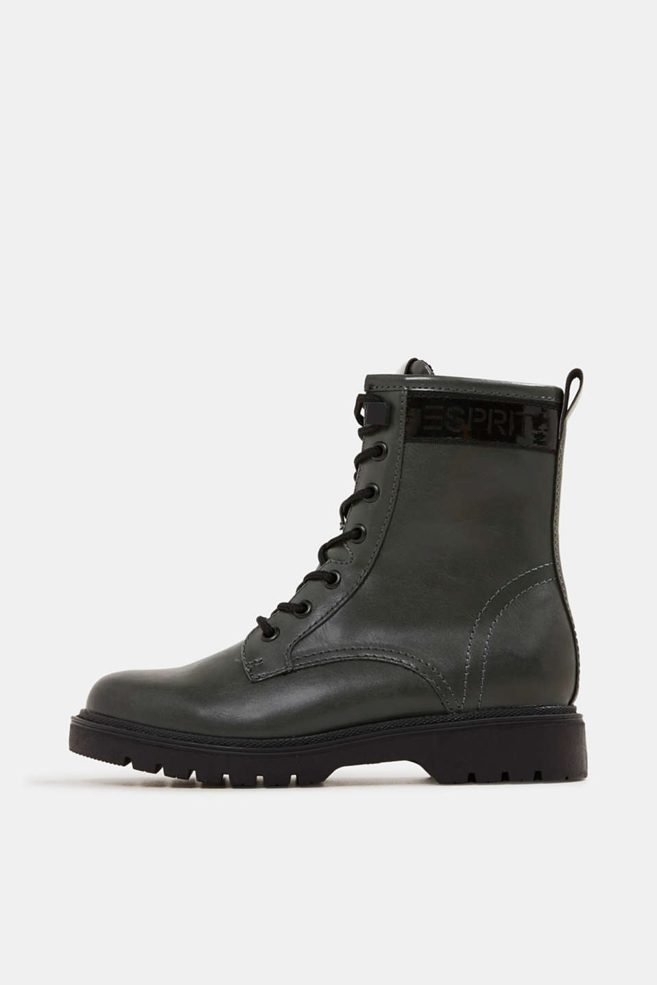 Esprit - Faux leather lace-up boots