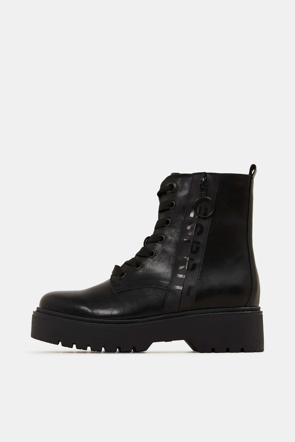 Esprit - Faux leather worker boots
