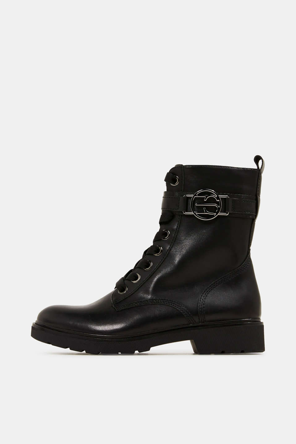 Esprit - Worker boots i læderlook
