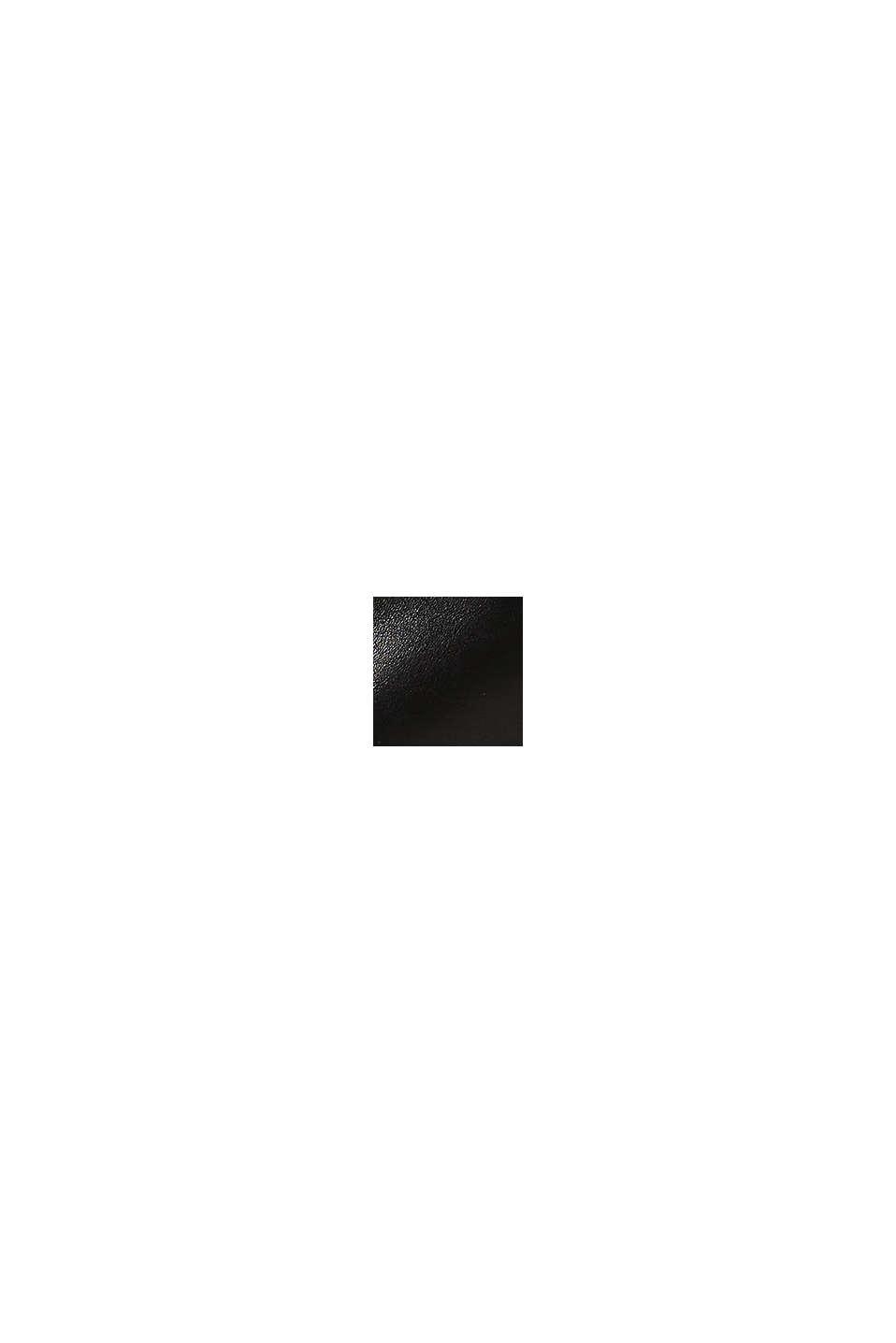 Worker-saapikkaat tekonahkaa, BLACK, swatch