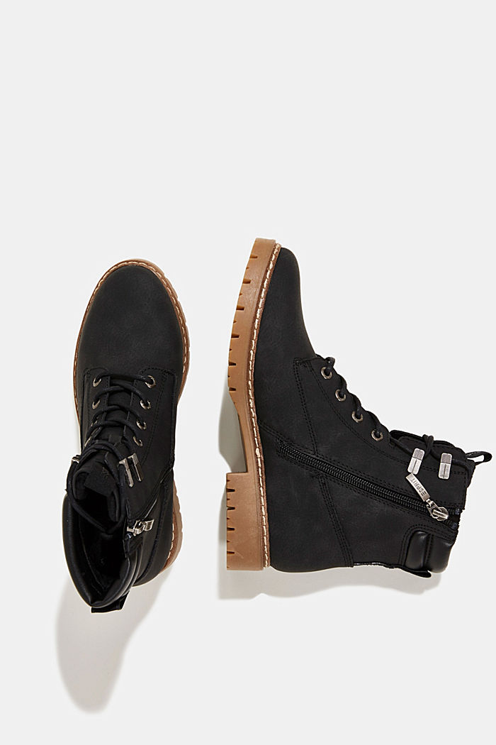 Boots in faux nubuck leather, BLACK, detail image number 1