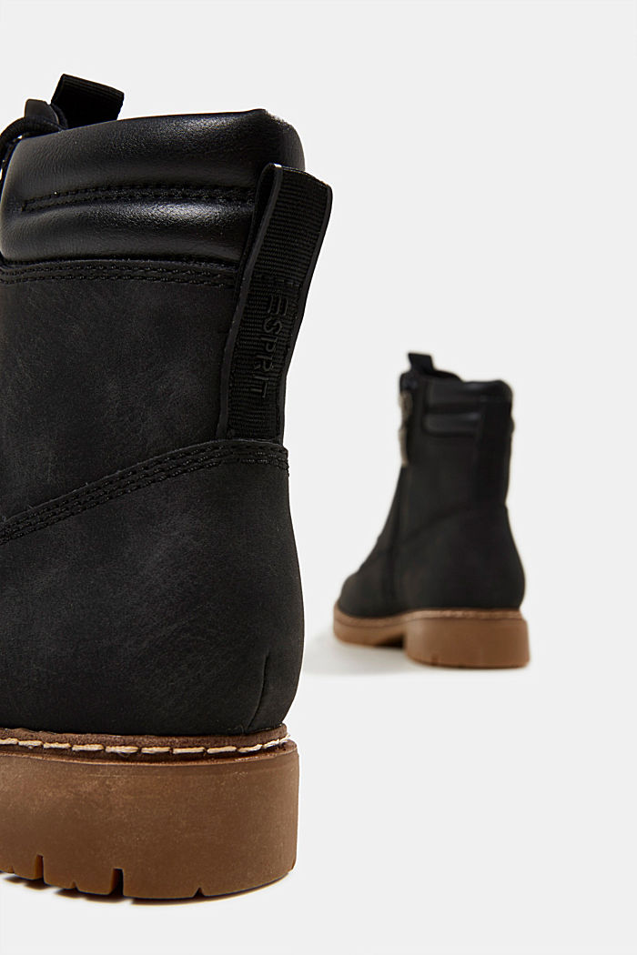 Boots in faux nubuck leather, BLACK, detail image number 5