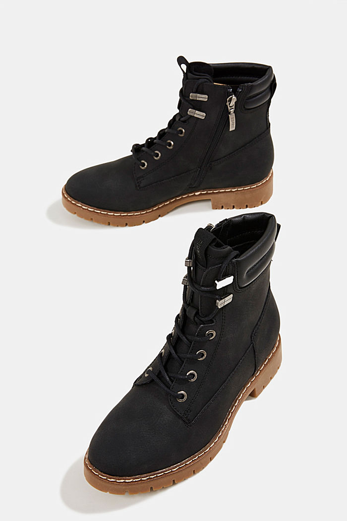 Boots in faux nubuck leather, BLACK, detail image number 6