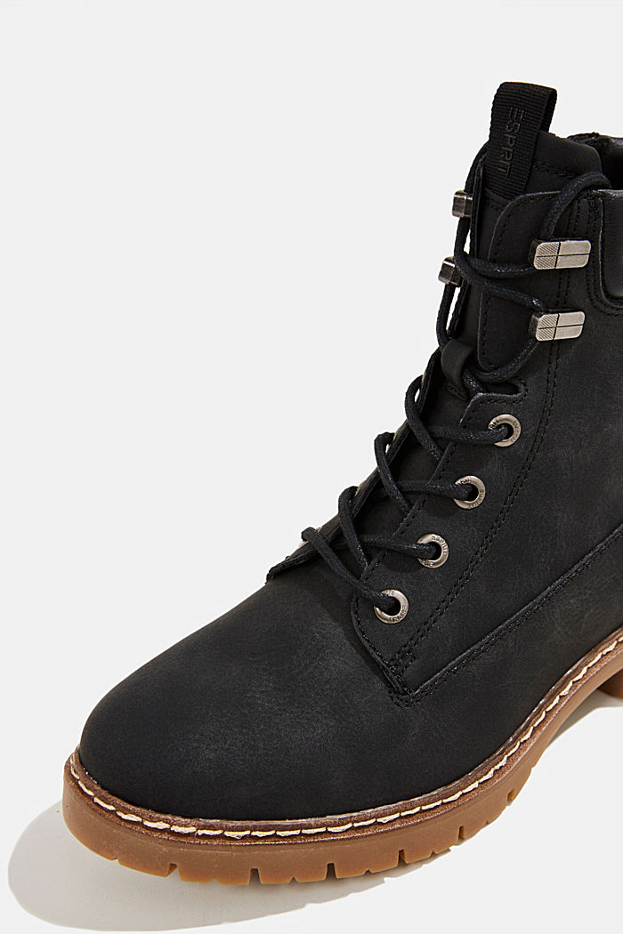 Boots in faux nubuck leather, BLACK, detail image number 4
