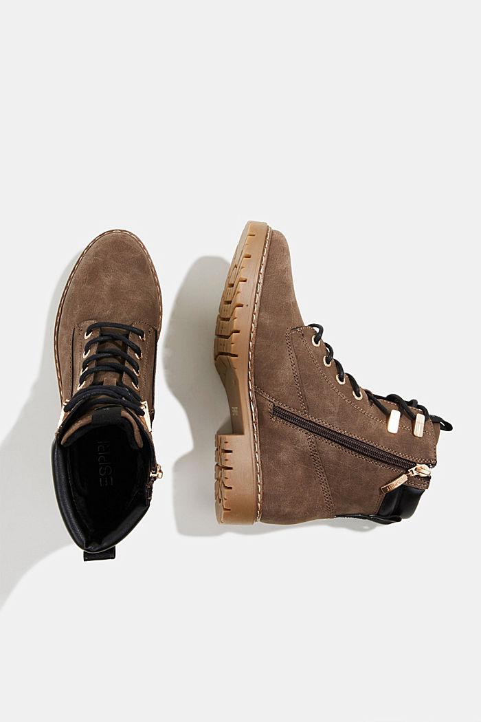 Boots in Nubukleder-Optik, BROWN, detail image number 1