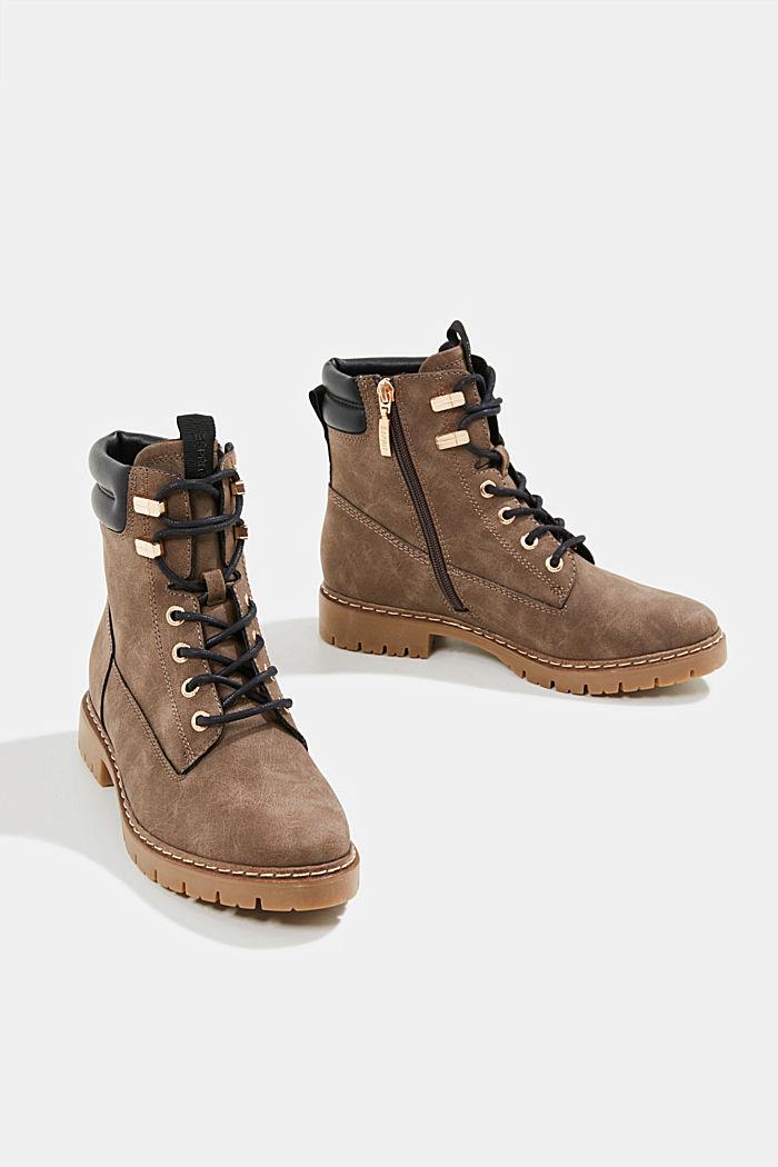 Boots in Nubukleder-Optik, BROWN, detail image number 6