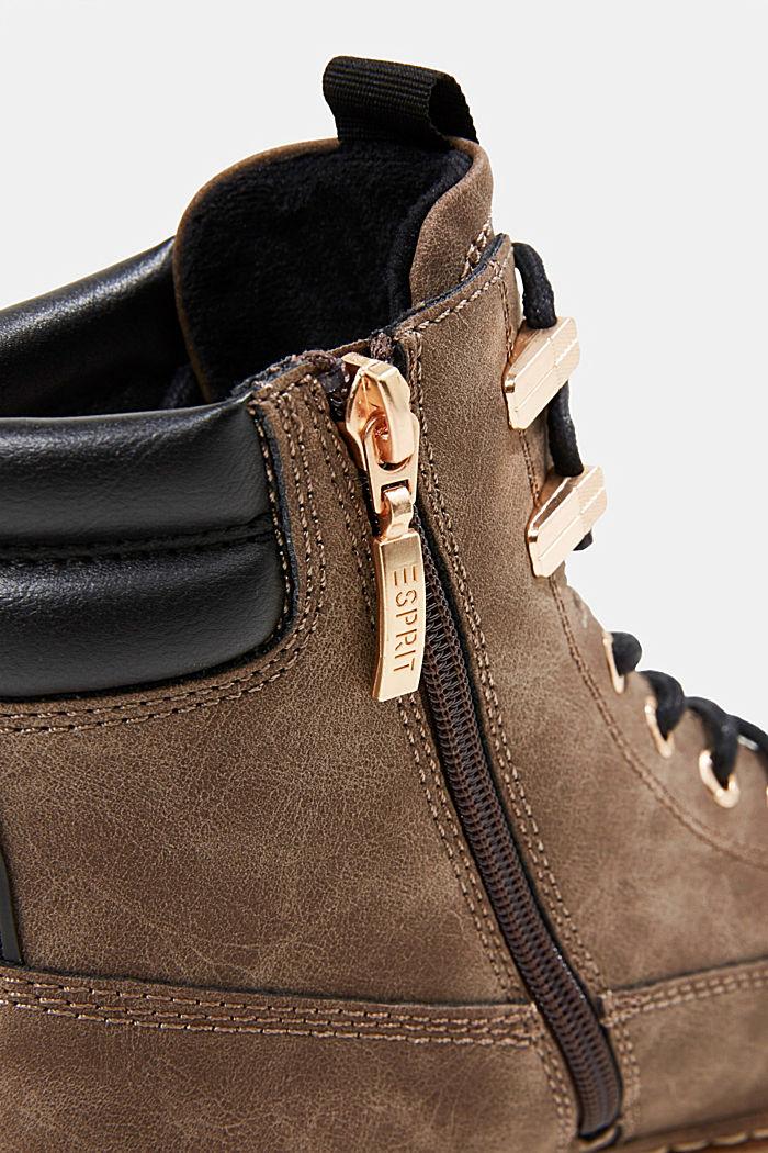 Boots in Nubukleder-Optik, BROWN, detail image number 4