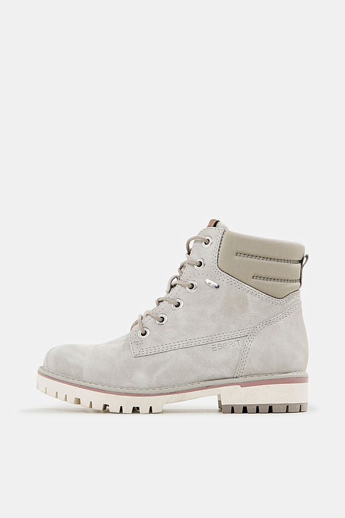 Lace-up boots with a TEX membrane, LIGHT GREY, detail image number 0
