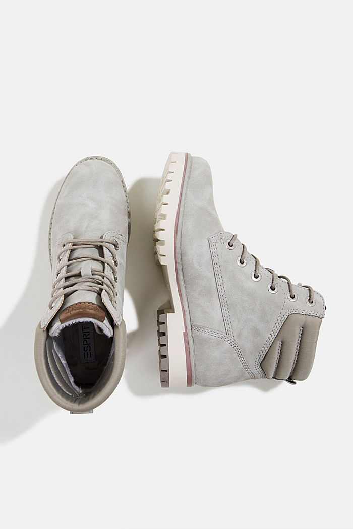 Lace-up boots with a TEX membrane, LIGHT GREY, detail image number 1