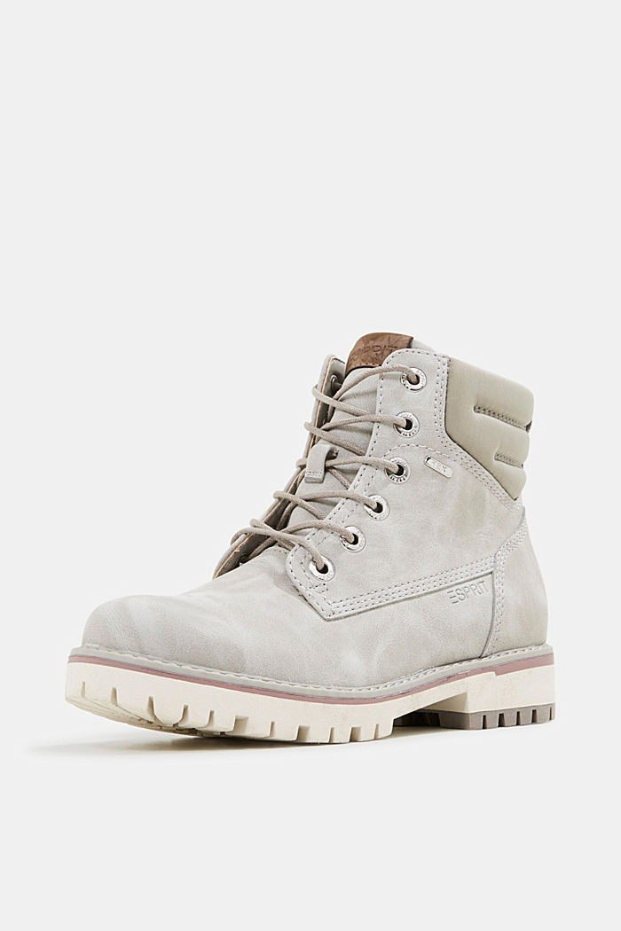Lace-up boots with a TEX membrane, LIGHT GREY, detail image number 2