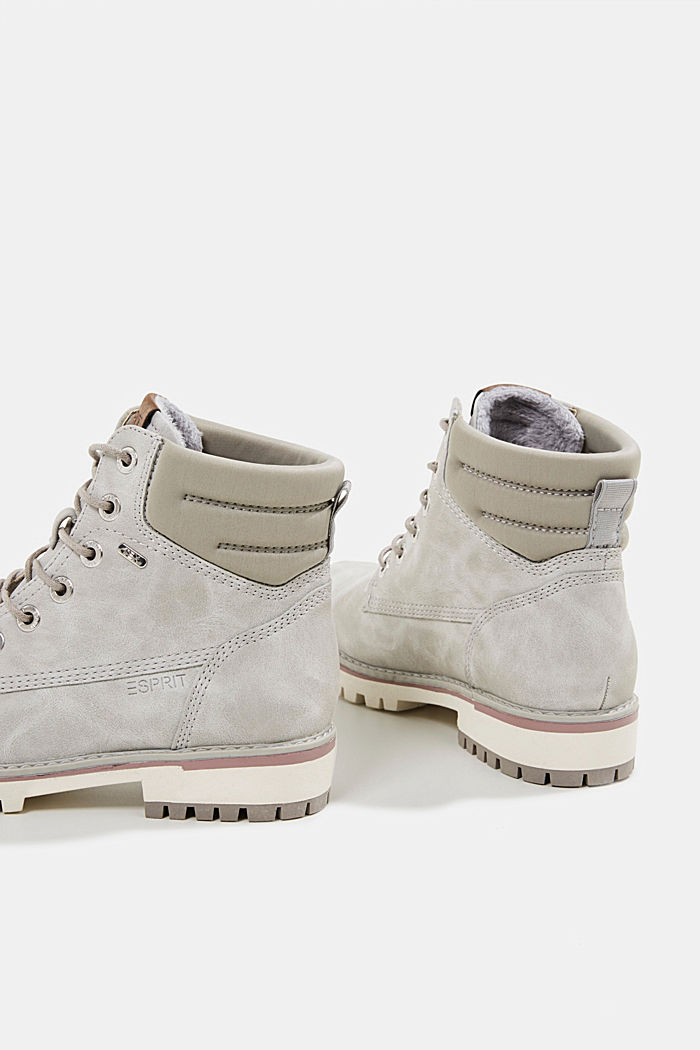 Lace-up boots with a TEX membrane, LIGHT GREY, detail image number 5