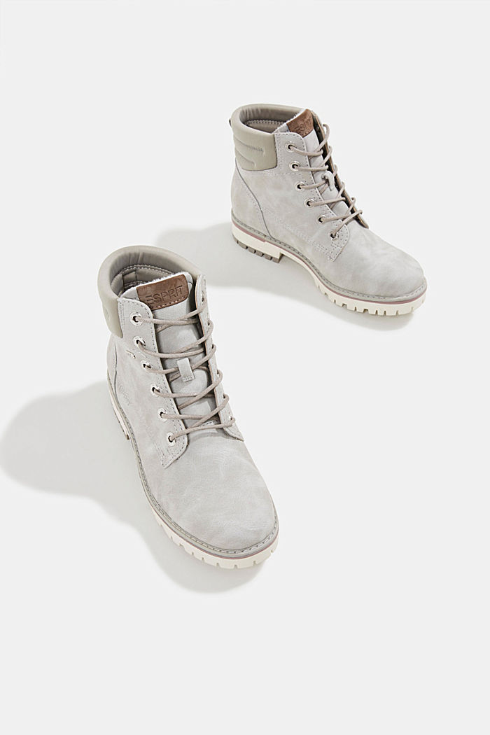 Lace-up boots with a TEX membrane, LIGHT GREY, detail image number 6