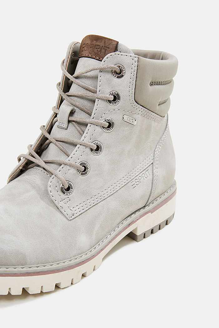Lace-up boots with a TEX membrane, LIGHT GREY, detail image number 4