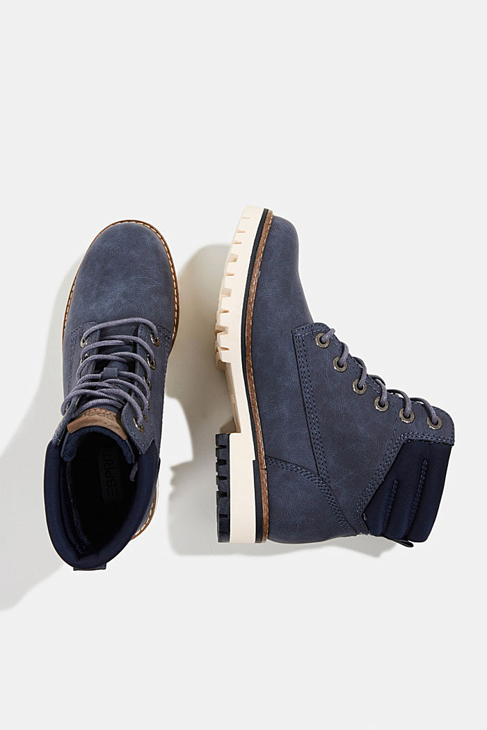 Lace-up boots with a TEX membrane, NAVY, detail image number 1